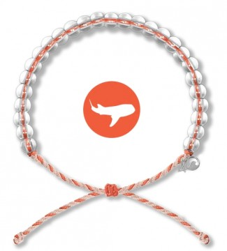 4Ocean Armbånd Orange/Tan - Hvalhai