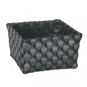 Albi Basket dark grey with black pattern