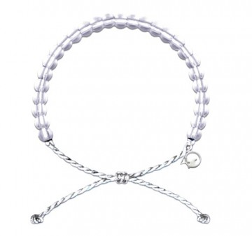 4Ocean armbånd - white limited edition