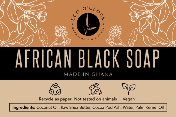 Eco O´Clock - African Black Soap