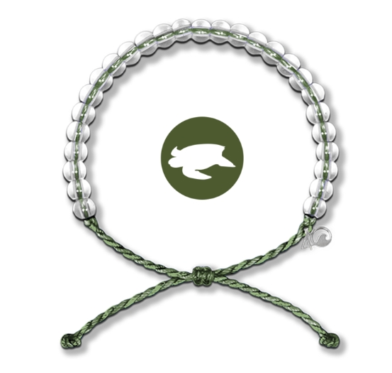 4Ocean - Leatherbacks Kale Green Bracelet